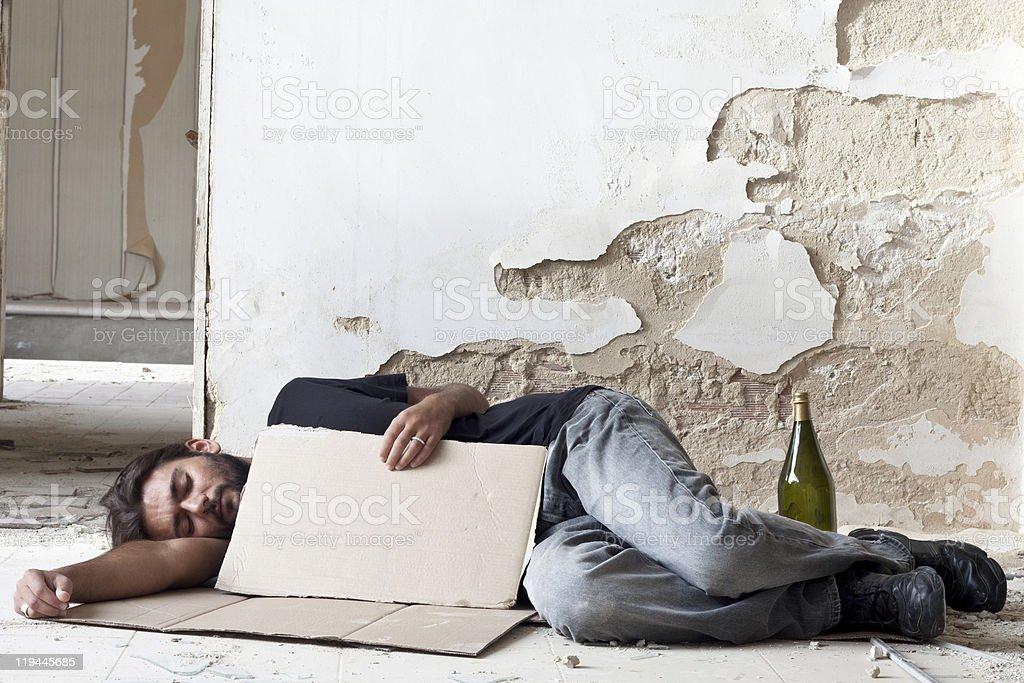 Sleeping Beggar royalty-free stock photo