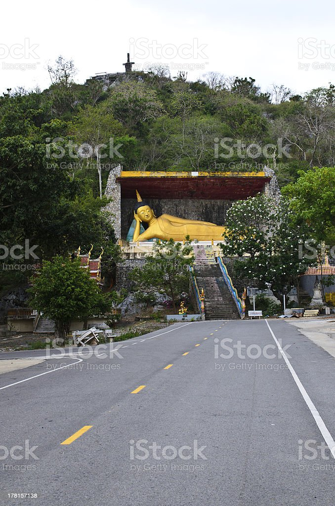 Sleeping Buddha Statue royalty-free stock photo