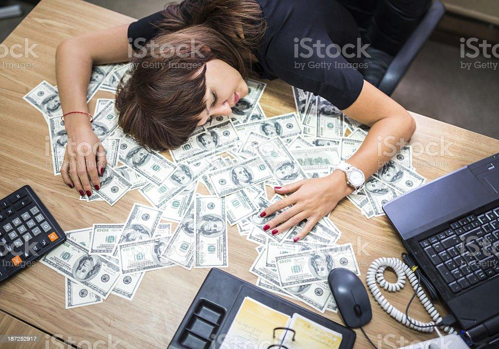 Femme d'affaires de couchage - Photo