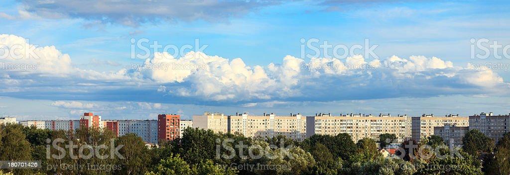 Sleeping district panorama royalty-free stock photo