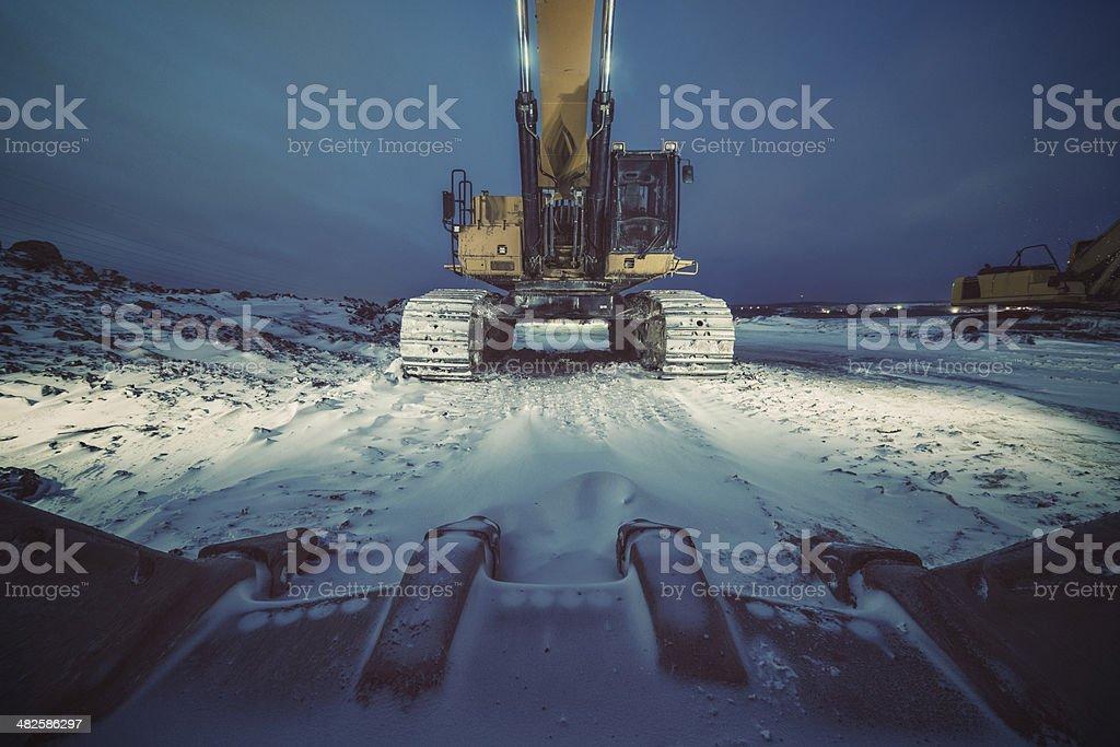 Schlafen Excavator – Foto