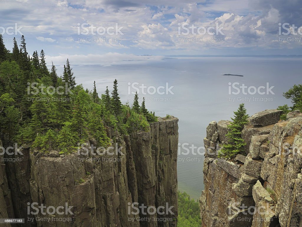 Overlooking Thunder Bay and Pie Island from \'The Head of the Giant\',...