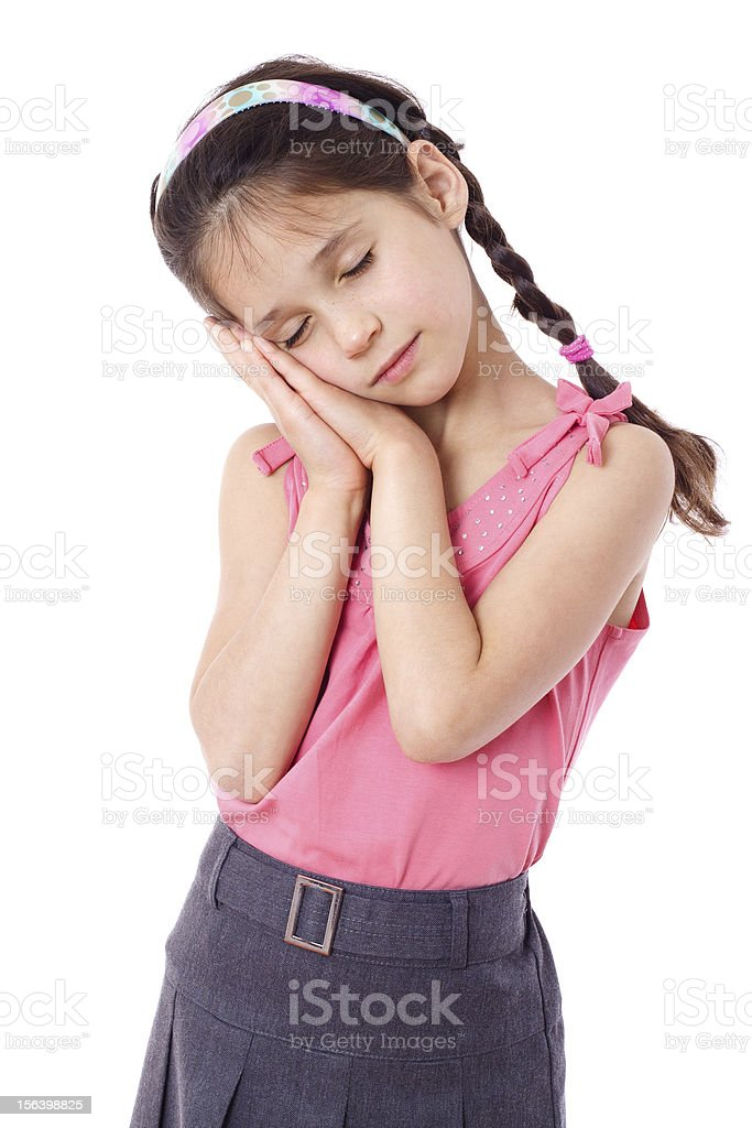 Sleeping girl royalty-free stock photo