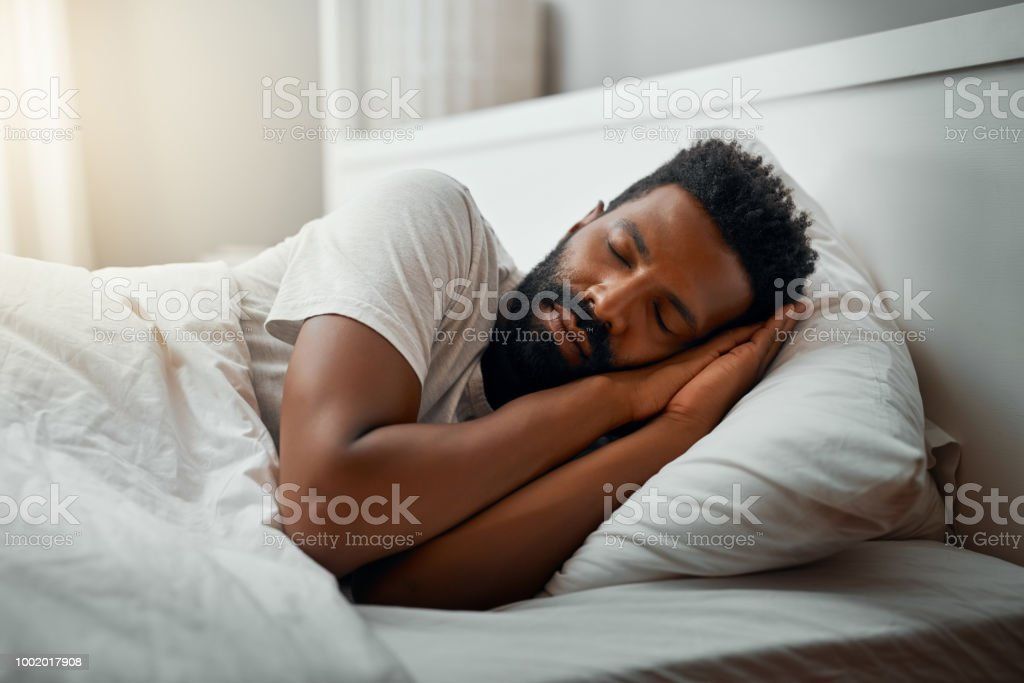 Sleeping in over the weekend stock photo