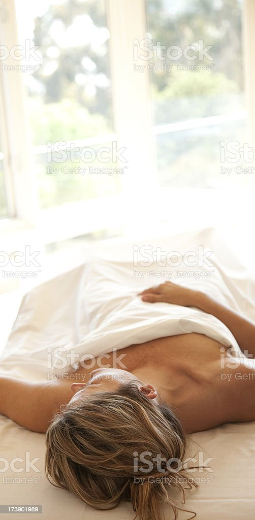 Sleeping In royalty-free stock photo