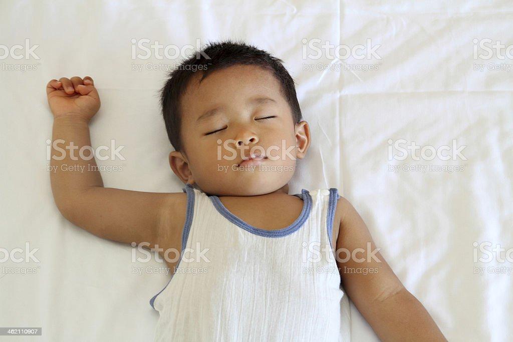Sleeping infant royalty-free stock photo