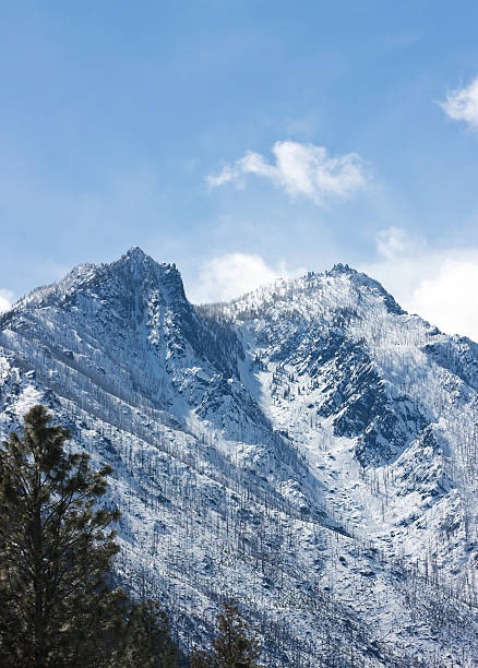 sleeping lady of the central cascades - leavenworth washington stock photos and pictures