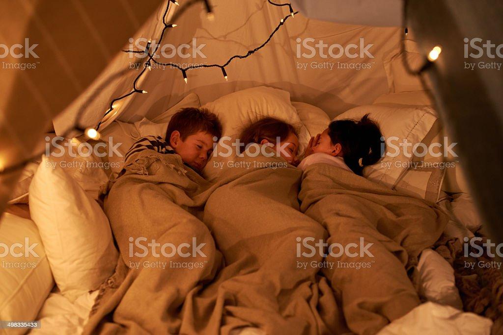 Sleeping little angels stock photo