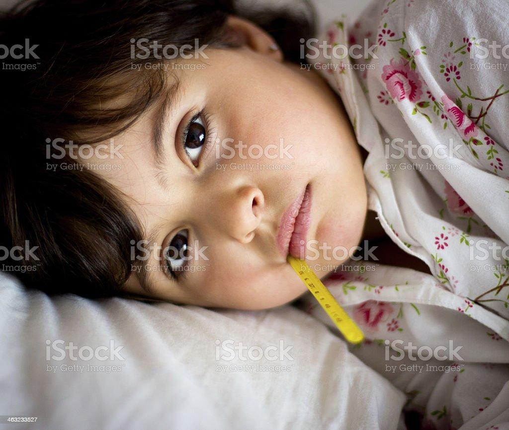 sleeping little girl stock photo