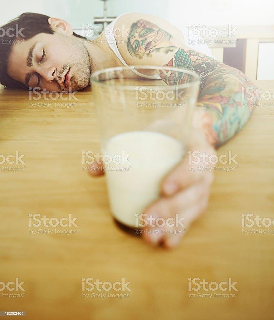 Sleeping man foto