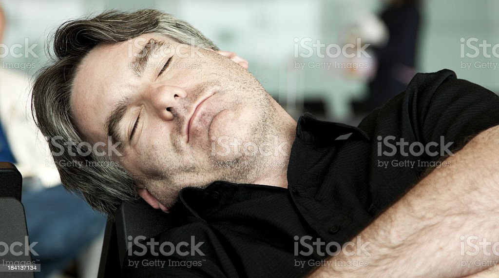 Sleeping Man royalty-free stock photo