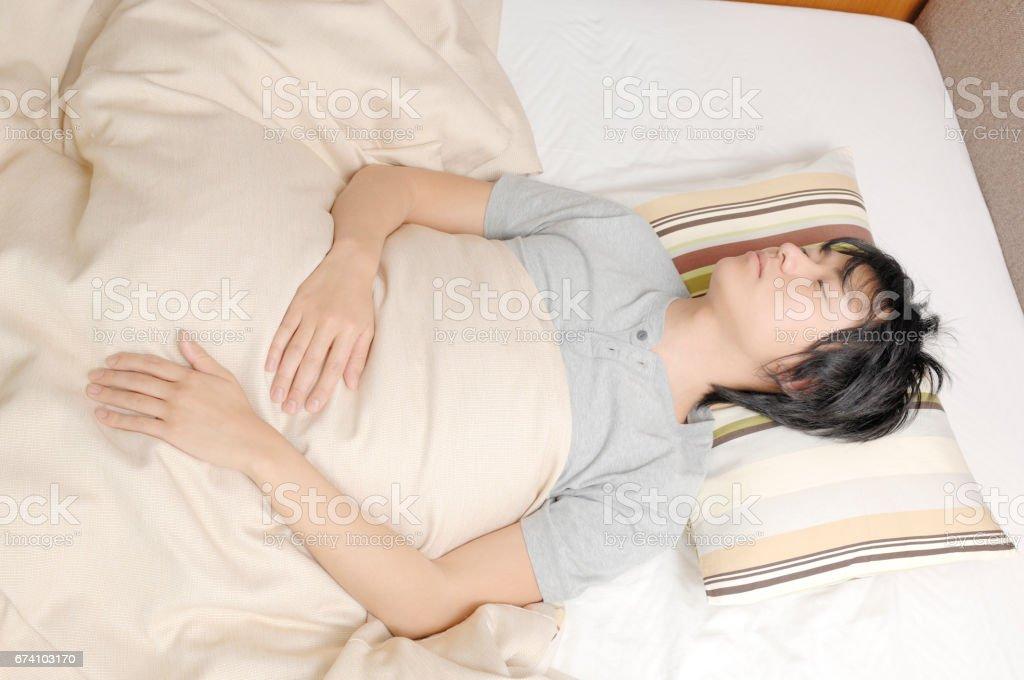 Sleeping men royalty-free stock photo