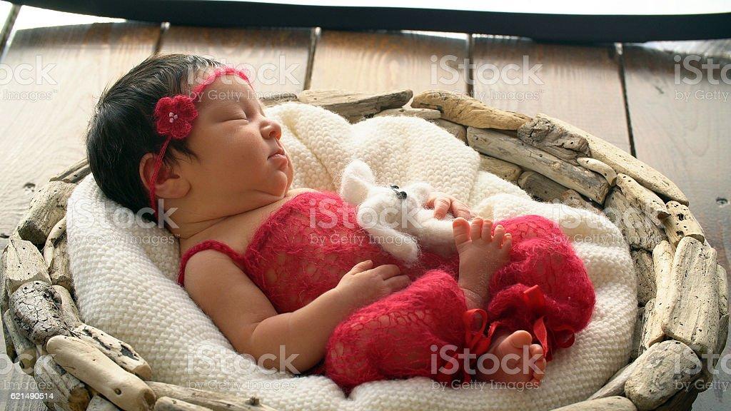 Schlafen neugeborene Baby Lizenzfreies stock-foto