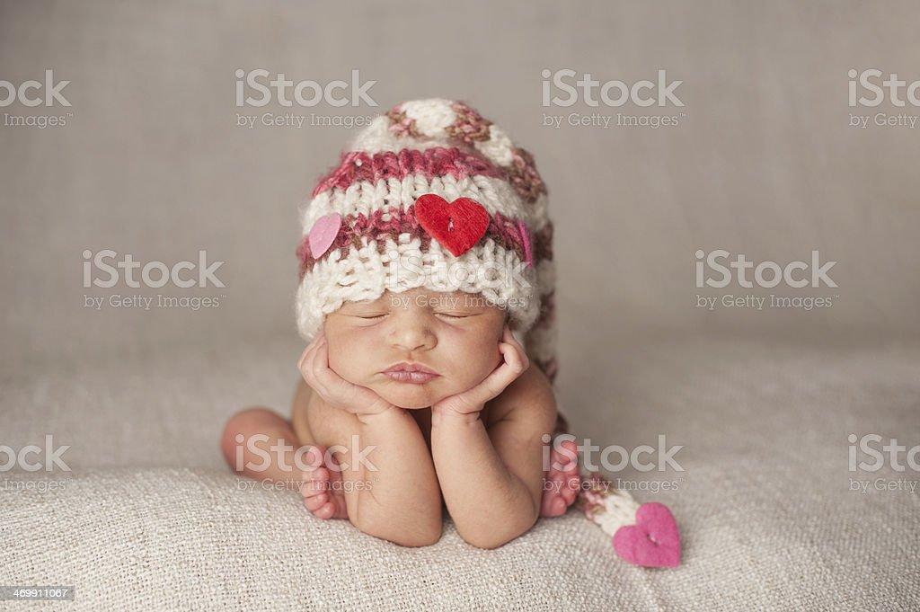Sleeping Newborn Girl stock photo