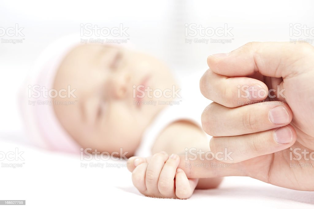Sleeping newborn. stock photo