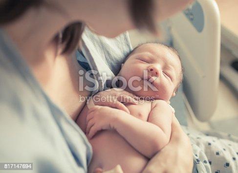 istock Sleeping newborn 817147694