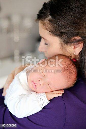 587876546istockphoto Sleeping Newborn 901506092