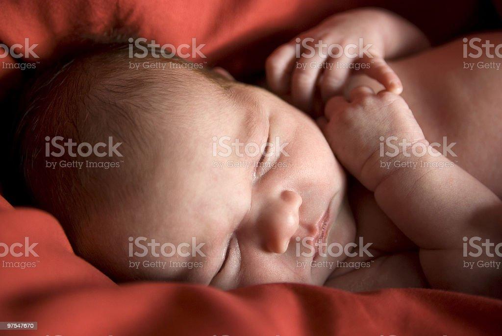 Sleeping newborn royalty-free stock photo