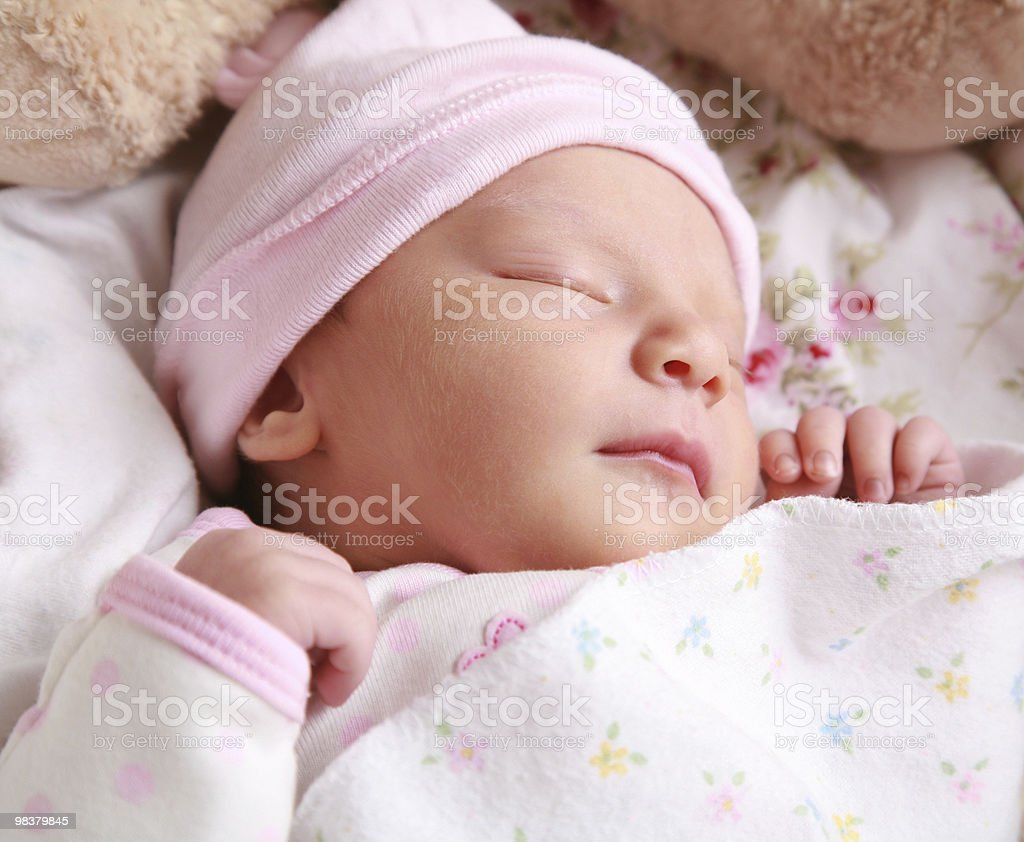 Sleeping Newborn royalty-free stock photo