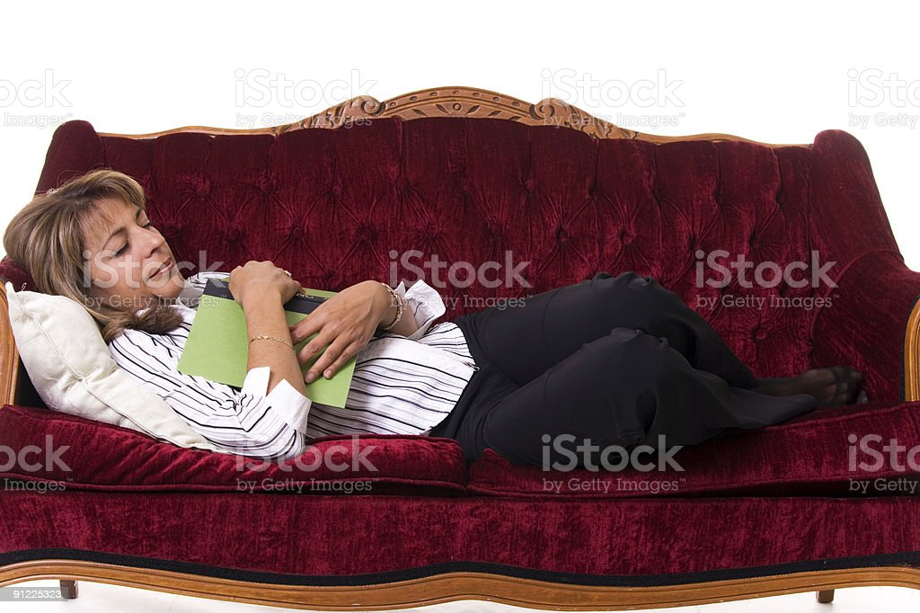 Sleeping on the Couch royalty-free stock photo