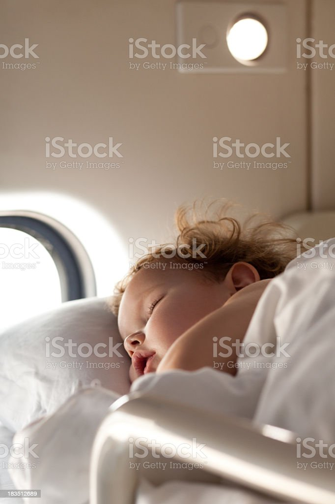 Sleeping on the train royalty-free stock photo