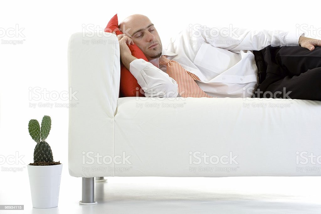 Sleeping royalty-free stock photo