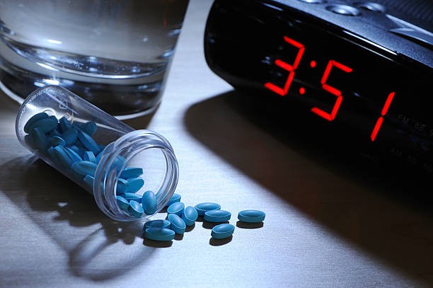 sleeping pills - sleeping pill stock photos and pictures