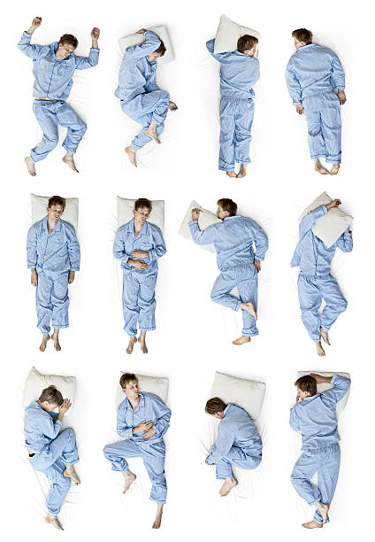 sleeping positions - position stock pictures, royalty-free photos & images