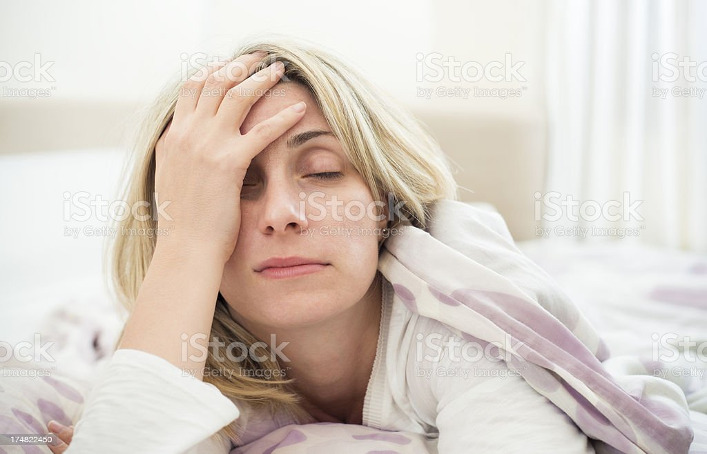 Sleeping problems stock photo