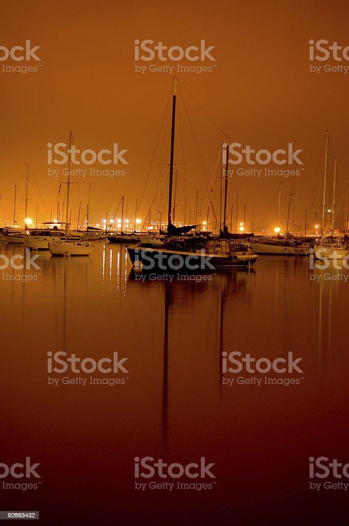 Sleeping Sailboats royalty-free stock photo