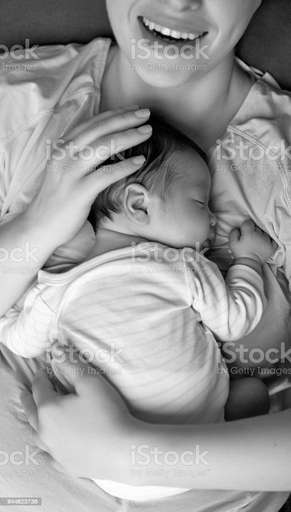 sleeping so good stock photo