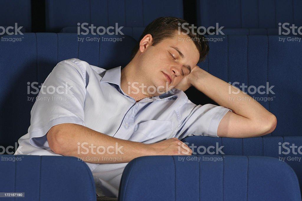 sleeping student #2 royalty-free stock photo