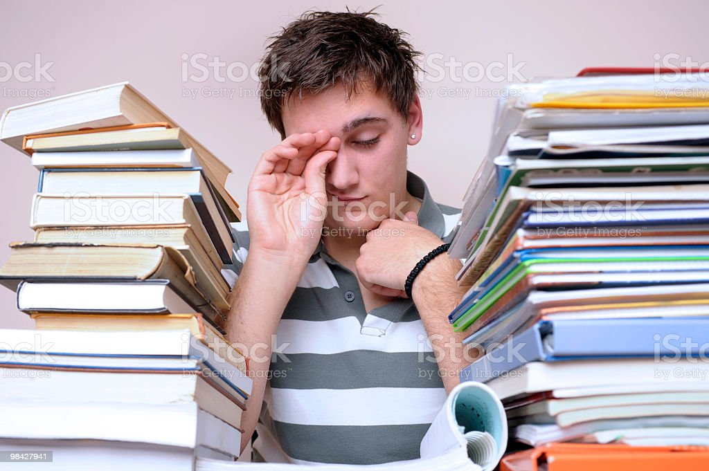 Sleeping student royalty-free stock photo
