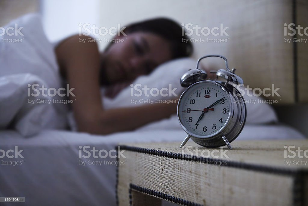 Sleeping the day away stock photo