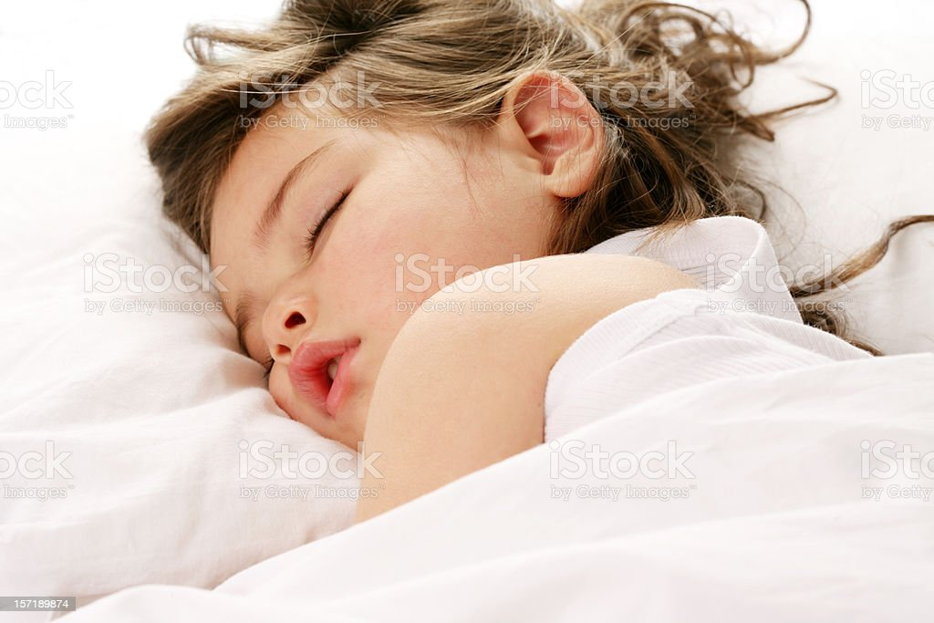 sleeping toddler stock photo