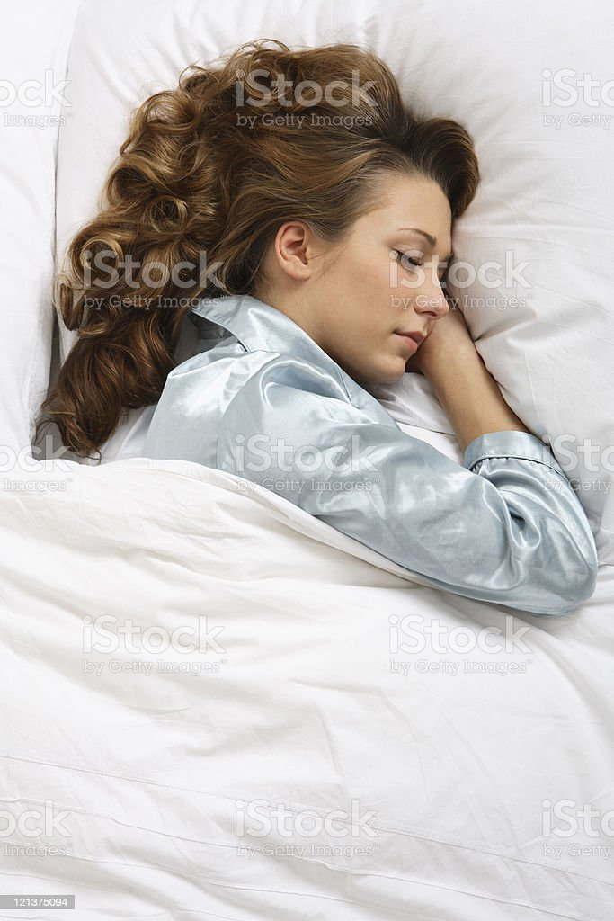 Sleeping Woman royalty-free stock photo