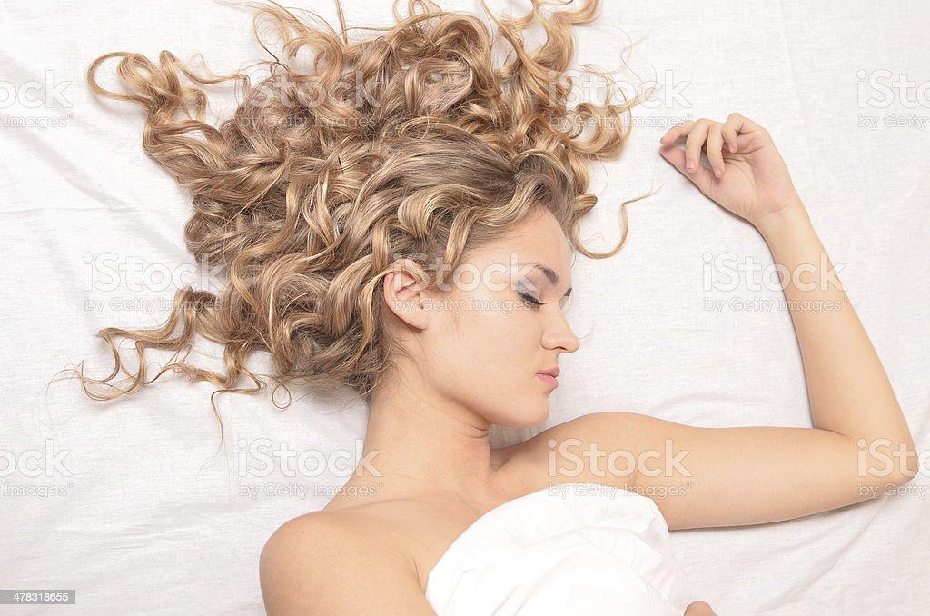 sleeping woman - Royalty-free Adult Stock Photo