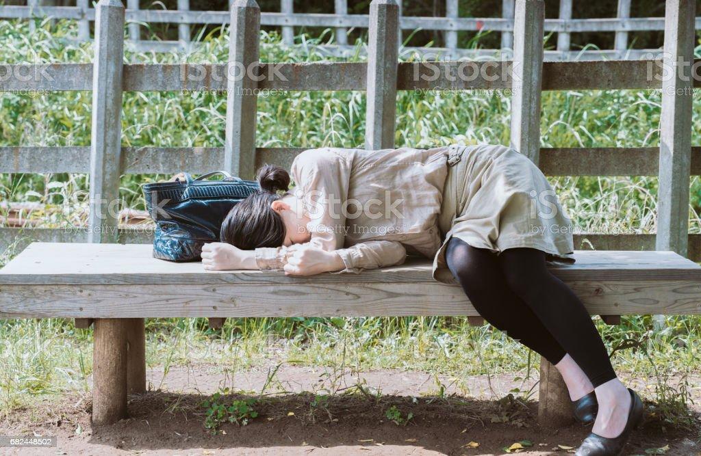 Uyuyan kadın royalty-free stock photo