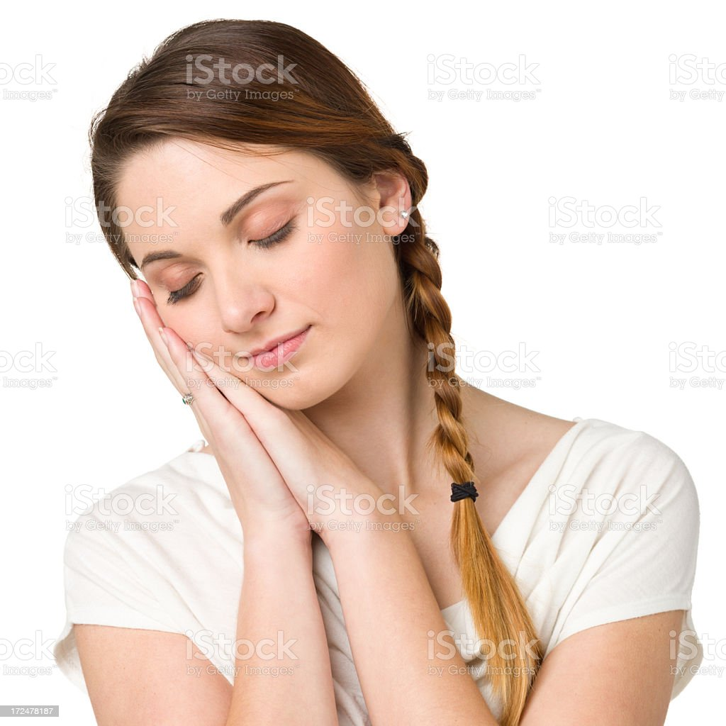 Sleeping Young Woman royalty-free stock photo
