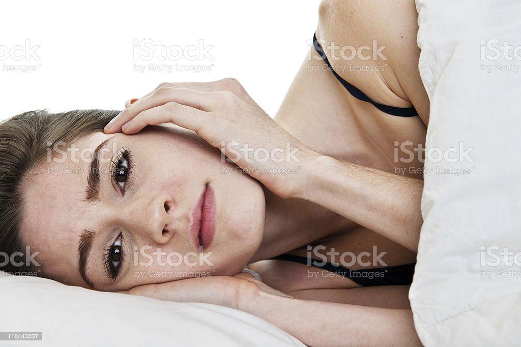 Sleepless woman royalty-free stock photo