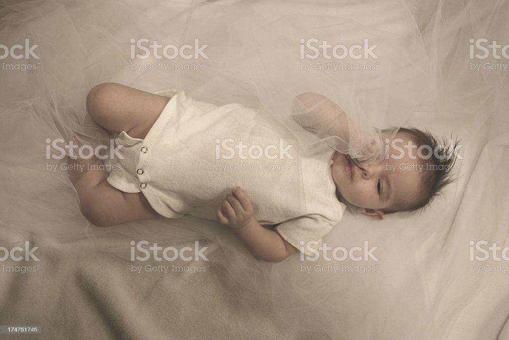 Sleepy Baby royalty-free stock photo