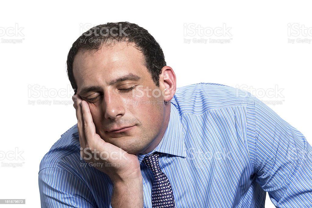 Sleepy man royalty-free stock photo
