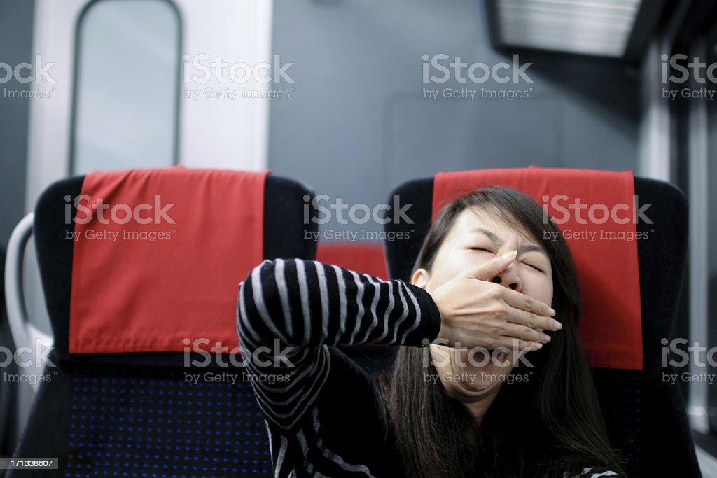 Sleepy Passenger - XLarge stock photo