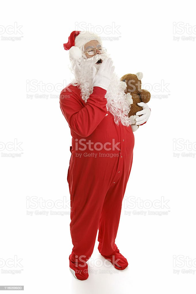 Sleepy Santa royalty-free stock photo