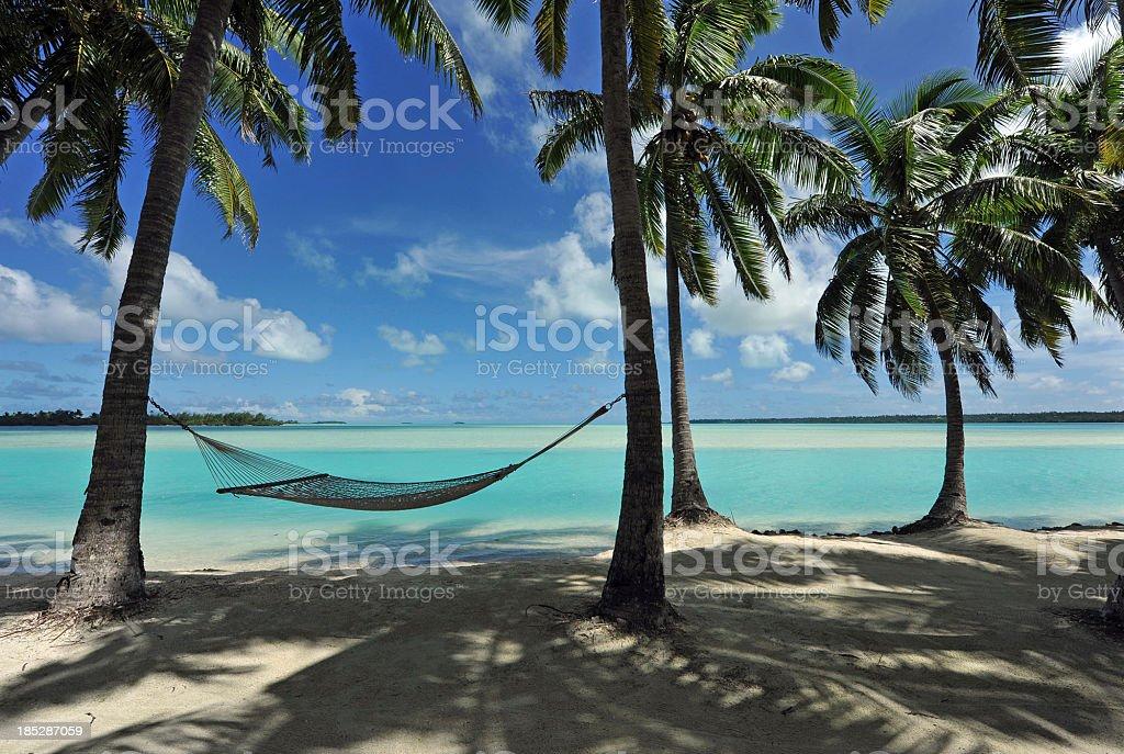 Sleepy Turquoise Lagoon royalty-free stock photo