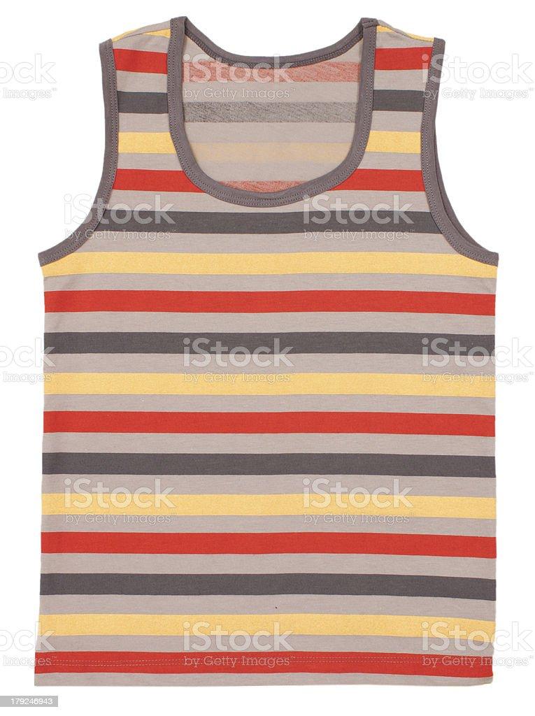 Sleeveless children's shirt royalty-free stock photo