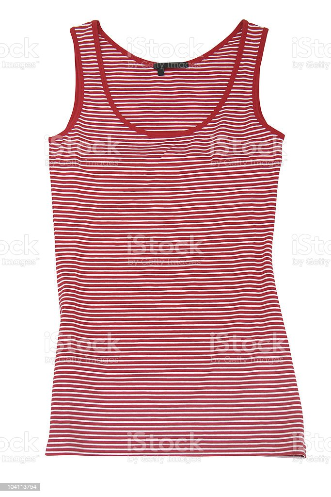 sleeveless sports shirt stock photo