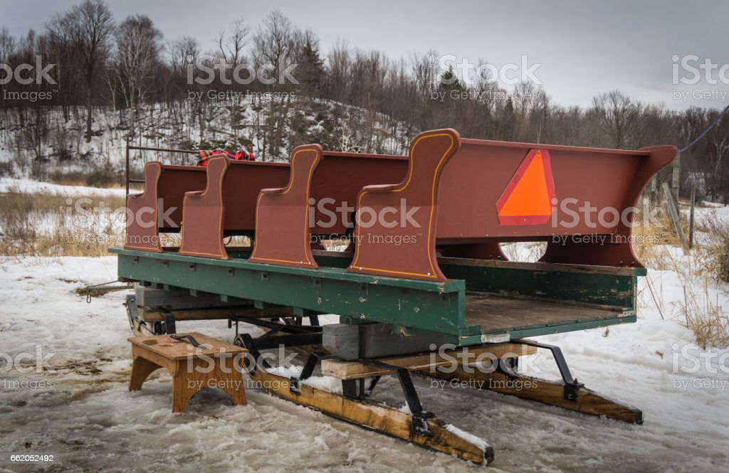 sleigh rides , an old fashioned treat stock photo