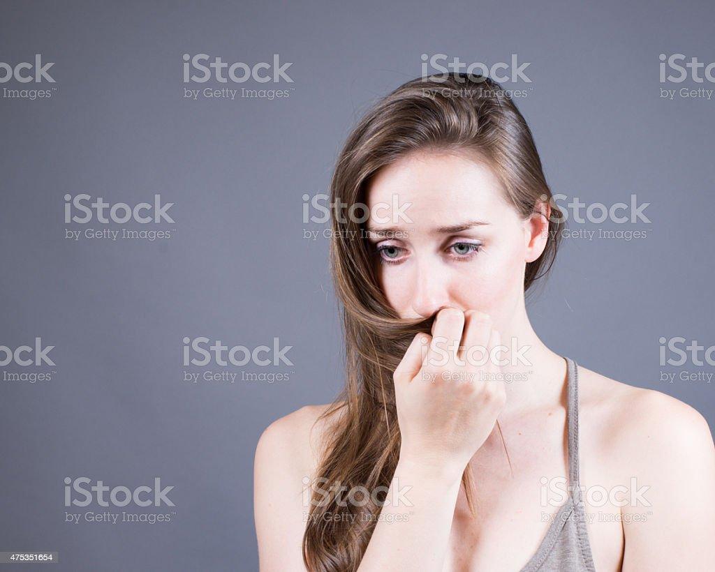 Slender Caucasian Female Portrait stock photo