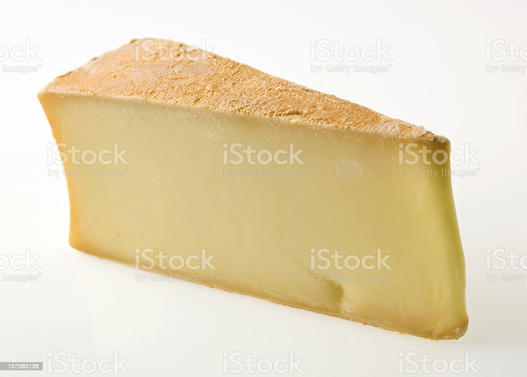 Slice of Abondance Cheese stock photo